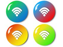 Wireless icon, sign, illustration. Wireless icon, sign,best illustration Royalty Free Stock Photography