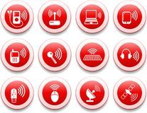 Wireless icons Royalty Free Stock Photography