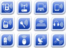 Wireless icons Royalty Free Stock Photo