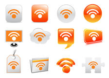 Wireless icons. Vector illustration of wireless icons royalty free illustration
