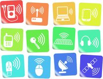 Wireless icons Royalty Free Stock Photos