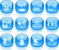 Free Wireless Icons Royalty Free Stock Image - 9376996