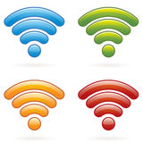 Wireless Icons EPS Royalty Free Stock Photography