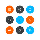 Wireless icons. Flat style. Wireless and hosting icons. Flat style Royalty Free Stock Photo