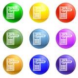Wireless icons set vector vector illustration