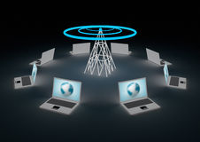 Wireless internet concept Stock Photography