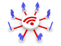 Wireless Internet. Online conference. Royalty Free Stock Photos