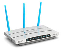 Wireless internet router Royalty Free Stock Images