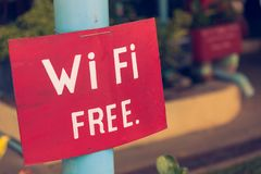 Wireless internet sign Royalty Free Stock Photos