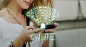 Wireless Internet Wifi Icon Concept Royalty Free Stock Images