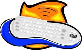 Wireless keyboard Royalty Free Stock Photos