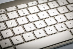 Wireless Keyboard Detail Royalty Free Stock Images