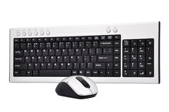 Wireless  keyboard and mouse Royalty Free Stock Photography