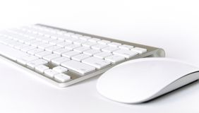 Wireless keyboard and mouse Royalty Free Stock Photo