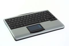 Wireless keyboard for PC. Wireless keyboard with touchpad for PC, isolated over white Stock Photography
