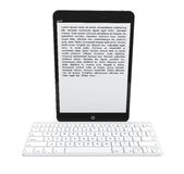 Wireless keyboard with Tablet PC Royalty Free Stock Image