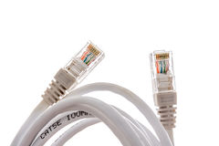 Wireless LAN cable on white.  Royalty Free Stock Photography