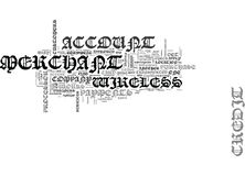 Wireless Merchant Account Word Cloud Royalty Free Stock Photography