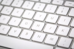 Wireless Metallic Keyboard Stock Photography