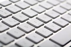 Wireless Metallic Keyboard Stock Image