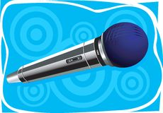 Wireless microphone. Illustration of Wireless microphone in desighned canvas Royalty Free Stock Photo