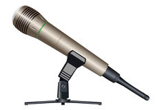 Wireless microphone on a support Royalty Free Stock Image