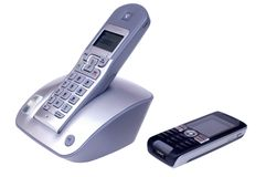 Wireless and mobile phones Stock Image