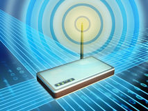 Wireless modem Royalty Free Illustration