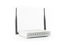Wireless modem router network hub Royalty Free Stock Image