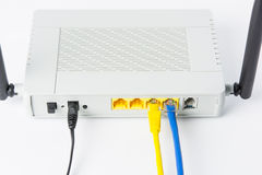 Wireless modem router network hub Royalty Free Stock Photography