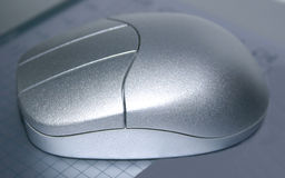 Wireless mouse. Optical wireless mouse Stock Photography