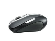 Wireless Mouse. Side View of wireless mouse. Clipping path included for easy extraction Stock Photo
