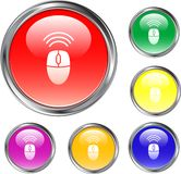 Wireless Mouse Button. This is a wireless mouse button for use in internet design Royalty Free Stock Photos