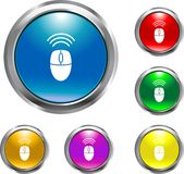 Wireless Mouse Button. This is a wireless mouse icon button for use in design project Royalty Free Stock Photography