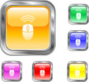 Wireless Mouse Button. This is a wireless mouse internet button Royalty Free Stock Photography