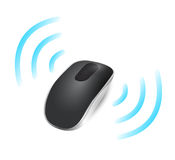 Wireless mouse connected. illustration design Stock Photo