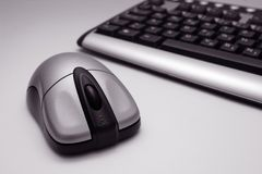 Wireless Mouse and Keyboard royalty free stock photos