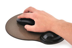 Wireless mouse and mause pad Stock Images