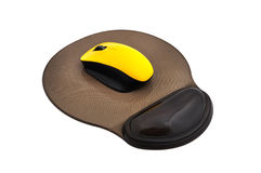 Wireless mouse and mause pad Royalty Free Stock Photo