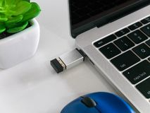 Free Wireless Mouse Nano Receiver With A USB Type-C Adapter Converter Royalty Free Stock Photos - 125298678