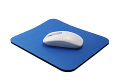 Wireless Mouse on Pad Stock Photography