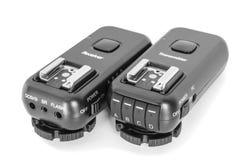 Wireless multichannel radio trigger set. For studio flash light remote fire Stock Images
