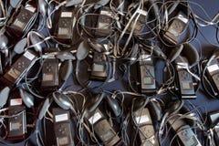 Wireless multy language headphones set .headphones used for simultaneous translation equipment simultaneous interpretation stock photos