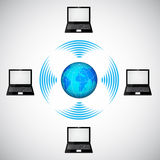 Wireless network. EPS10. This is editable vector illustration Royalty Free Stock Photos
