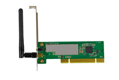 Wireless network adapter computer card Royalty Free Stock Image