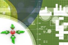 Wireless network communication Illustration Royalty Free Stock Photo