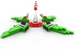 Wireless network communication Stock Images