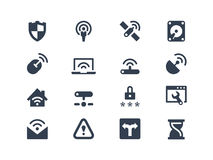 Wireless network icons Stock Photos