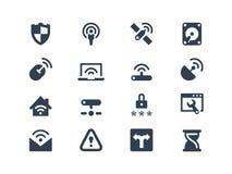 Wireless network icons Stock Photos