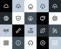 Wireless network icons. Flat. Series Stock Image